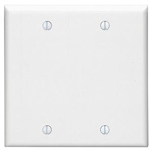 Leviton Nylon 2-Gang Blank Wall Plate White