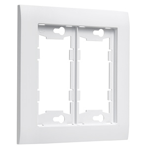 TayMac Device Mid-Size White Wall Plate 2-Gang A2000W
