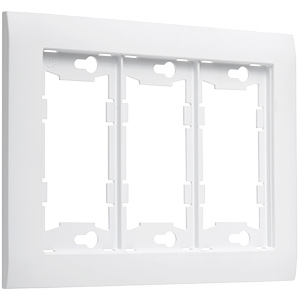 TayMac Device Mid-Size White Wall Plate 3-Gang A3000W