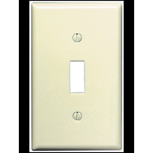 Leviton 1-Gang Switch Wall Plate Ivory