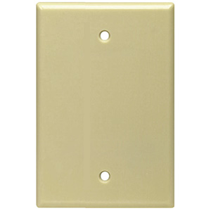 Leviton 1-Gang Blank Wall Plate Ivory