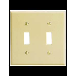 Leviton 2-Gang Switch Wall Plate Ivory