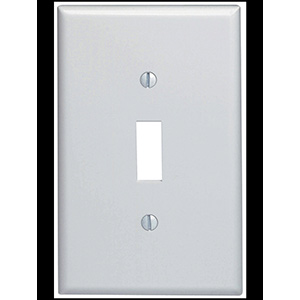 Leviton 1-Gang Switch Wall Plate White