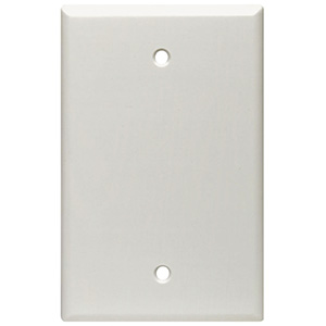 Leviton 1-Gang Blank Wall Plate White