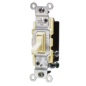 Leviton 3-Way Switch — 15 Amp Ivory