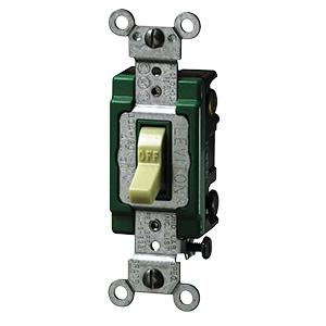 Leviton Double-Pole Switch — 30 Amp Ivory