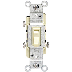 Leviton 3-Way CO/ALR Switch — 15 Amp Ivory