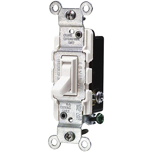 Leviton 3-Way Switch — 15 Amp White