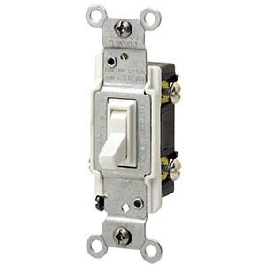 Leviton 3-Way CO/ALR Switch — 15 Amp White