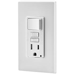 Leviton GFCI Combination Tamper-Resistant — 15 Amp White