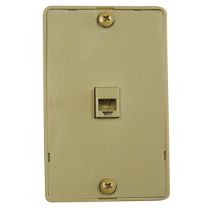 Black Point Surface Mount Phone Jack Wall Plate Ivory