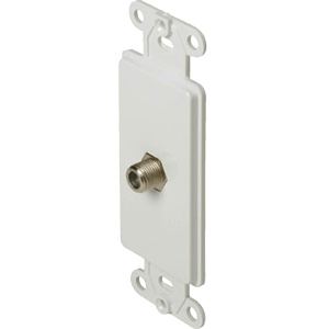 Black Point Deco White Wall Jack TV/Cable