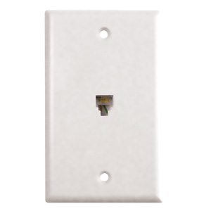 Black Point Phone Jack Wall Plate White