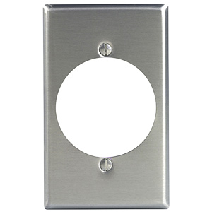 Leviton Metal Dryer/Range Receptacle Plate Single Gang