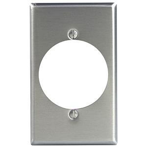 Leviton Metal Dryer/Range Receptacle Plate Single Gang