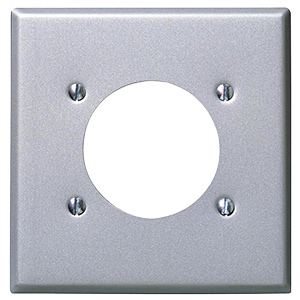 Leviton Metal Dryer/Range Receptacle Plate Double Gang