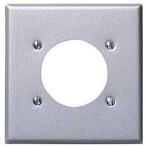 Leviton Metal Dryer/Range Receptacle Plate Double Gang