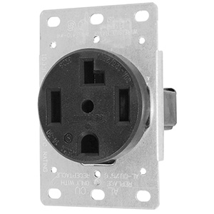 Leviton Dryer Receptacle 4-Wire Flush Wall Mount