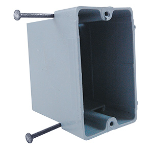 Nail-In PVC Single Gang Work Box