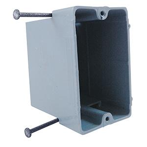 Nail-In PVC Single Gang Work Box