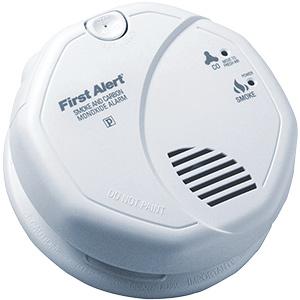 BRK Smoke/CO Alarm 120V with Battery Back-Up & Voice