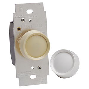 Dimmer Switch Ivory and White Knobs