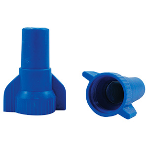 Ideal Industries Large Blue Wing Nut 8-22 AWG — Blue
