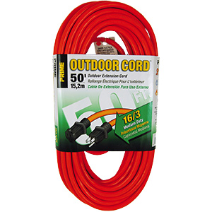 Prime Medium-Duty Extension Cord 50 Ft