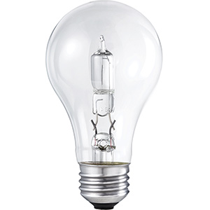 Philips A19 Energy Saving Halogen Bulb 43W Clear 2700K