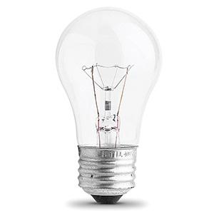 Feit A15 Incandescent Appliance Bulb 25W Clear Medium Base