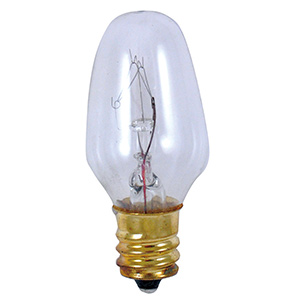 Feit 7W C7 Light Bulb Candelabra Base Clear