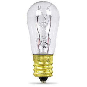 Feit 6W S6 Microwave Bulb Candelabra Base Clear