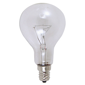 Feit A15 Incandescent Bulb 40W Clear Candelabra Base