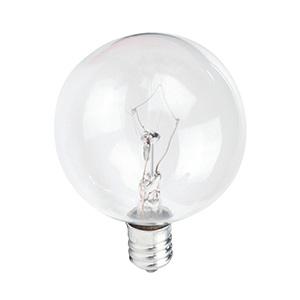 G16-1/2 Globe Incandescent Bulb 40W Clear Candelabra Base