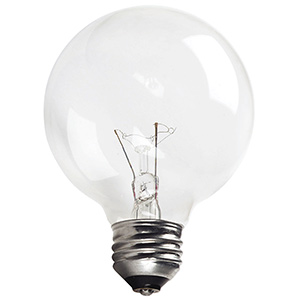 Philips G25 Globe Incandescent Bulb 25W Clear