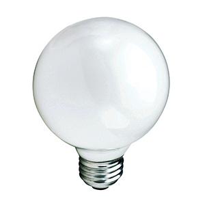 Philips G25 Globe Incandescent Bulb25W White
