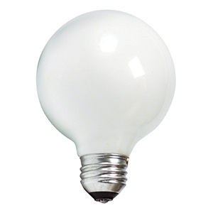 Philips G25 Globe Incandescent Bulb40W White
