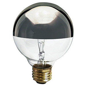 G25 Globe Incandescent Bulb 60W Silver Crown