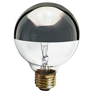 G25 Globe Incandescent Bulb 60W Silver Crown