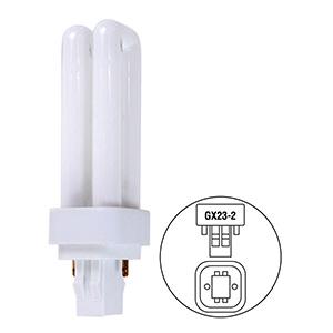 13W Quad CFL Bulb GX23-2 Base 4100K