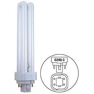 26W Quad CFL Bulb G24d-3 Base 2700K