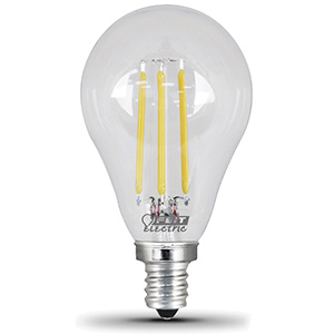 A15 Filament LED Bulb Replaces 40W 2700K Candelabra Base