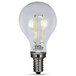 A15 Filament LED Bulb Replaces 60W 2700K Intermediate Base