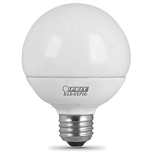 Feit G25 LED Bulb Replaces 60W 3000K Non-Dimmable