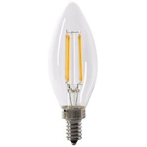 Feit Torpedo-Tip LED Bulb Replaces 40W 2700K Candelabra CEC