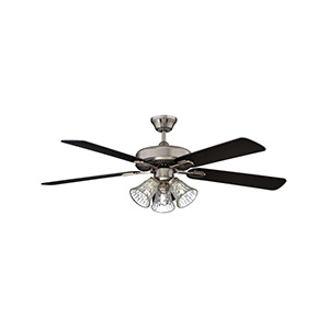 "42"" 5-Blade Dual Mount Fan with Light Kit Stainless Steel"