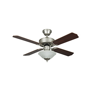 "42"" 4-Blade Dual Mount Fan with Light Kit Satin Nickel"