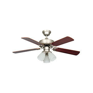 "42"" 5-Blade Dual Mount Fan with Light Kit Satin Nickel"