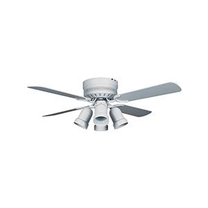 """42"""" 4-Blade Hugger Fan with Light Kit White"""