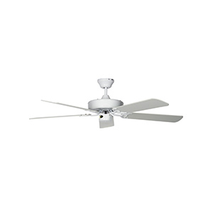 "52"" 4 or 5-Blade Dual Mount Ceiling Fan White"